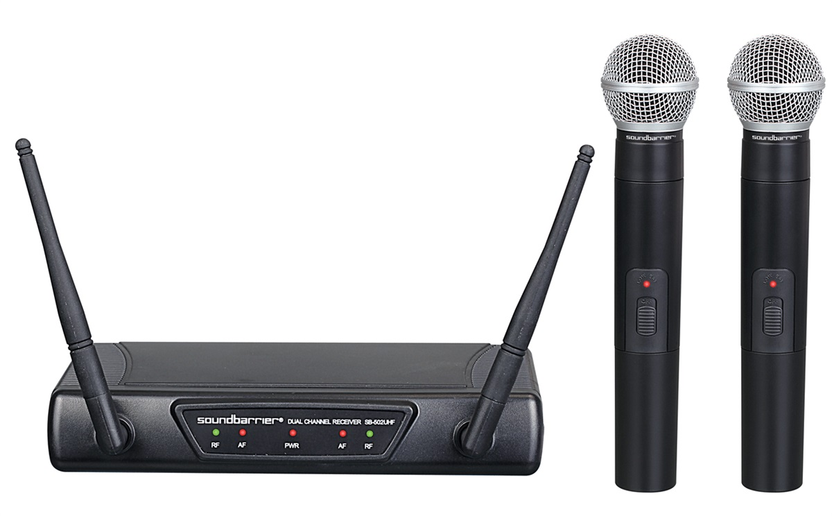 Soundbarrier SB-502UHF UHF Wireless Microphone System